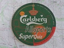 Beer Bar Coaster ~ CARLSBERG Copenhagen Brewery Bier ~ All Sports Cafe Superquiz