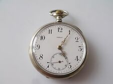 VINTAGE TRAIN ENGRAVED NICKEL CASED OMEGA  POCKET WATCH  GRAND PRIX PARIS 1900