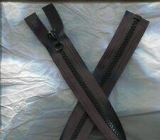 24 inch Deep Black #5V Vislon Separating Ideal Zipperw/Beer Tab Pull  New!