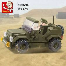 Sluban B0296 Army Garrison Vehicle Jeep Minifigures Enlighten Building Block Toy