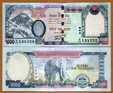 Nepal, 1000 Rupees, 2013, Pick 68-New, UNC   Elephant, Rastra Bank