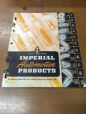 1953 Imperial Automotive Product Sales Catalog Guide Book