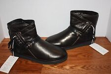 NIB Womens UGG Australia Karisa Stingray Black Leather Boots Size 10