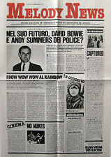 MELODY NEWS 19 1981 Robert Fripp Alan Vega Gino Paoli Bow Wow Wow Journey