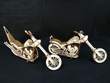 Laser Cut Wooden Easy Rider Harley Chopper Motorcycles 3D Model/Puzzle Kit