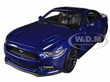 2015 FORD MUSTANG GT 5.0 BLUE 1/24 DIECAST CAR MODEL BY MAISTO 31508