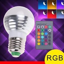 3W E27 LED RGB ampoule Lampe 16 change de couleur avec télécommande sans fil