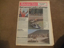 Motoring News 14 October 1976 Sanremo San Remo Rally US Watkins Glen F1 GP