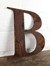 B Rusty Rusted Steel Metal Letter Industrial Sign Garden Decoration Ornament