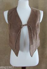 XS Womens Gap Suede Leather jacket vest extra small brown vintage western