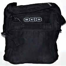 OGIO Messenger Shoulder Bag Travel Work School Padded Magnetic Closure Black