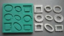 Silicone Mould FRAMES SMALL Sugarcraft Cake Decorating Fondant / Fimo mold