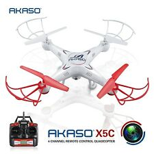 AKASO X5C Quadcopter 2.4GHz 4 CH 6 Axis Gyro RC Drone  with HD Camera
