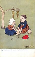 POSTCARD  COMIC   DUTCH  KIDS  related  ....     G E SHEPHEARD         TUCK