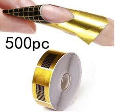 500pcs Nail Form for Acrylic UV Gel Tips Extension Art Manicure Tips Tools