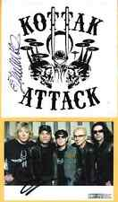 James Kottak of the Scorpions Signed Autographed postcard and sticker