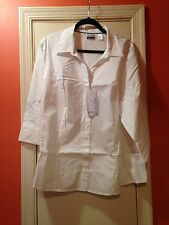 Women's Easy Care 3/4 Sleeve Blouse Riders By Lee Size 2X Arctic White