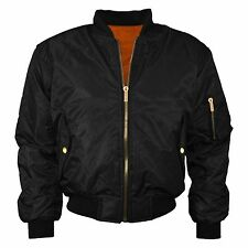 MENS MA1 BOMBER FLIGHT VINTAGE BIKER ARMY MILITARY SECURITY HARRINGTON UK JACKET