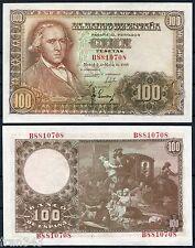 100  Pesetas 1948 FRANCISCO BAYEU  SC  / SPAIN Pick 137 UNC