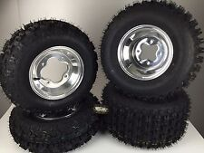 4 NEW Honda TRX400EX/ TRX400X Polished Aluminum Rims & MassFx Tires Wheels kit