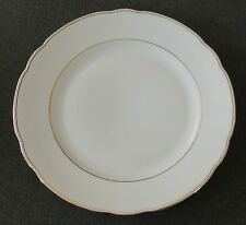 "Seltmann Weiden Bavaria Germany Gold Trim Scallop Edge 9 1/2"" Salad Plate Nora"