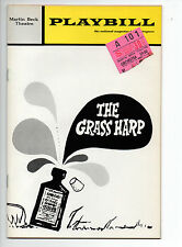 Grass Harp Martin Beck Theatre Playbill 1971 NYC Barbara Cook Max Showalter VG