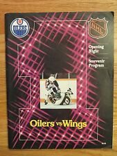 Opening Night WAYNE GRETZKY MARK MESSIER 1st EDMONTON OILERS Oct 13 1979 Program