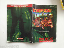 Notice/Manual/Instruction Booklet Donkey Kong Country Super Nintendo SNS-8X-USA