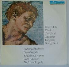 """BEETHOVEN KLAVIERKONZERT NR. 3 EMIL GILELS CLEVELAND GEORGE SZELL 12"""" LP (d10)"""