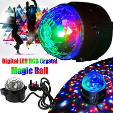 Latest Version Disco DJ Sound Activated Ball RGB Party Club LED Crystal Light