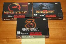 Mortal Kombat 1 2 3 (Super Nintendo SNES) NEW SEALED TRILOGY, NM/MINT, RARE SET!