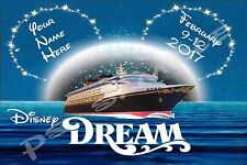 5x7 CUSTOM Disney Cruise Door Magnet - DREAM/FANTASY/MAGIC/WONDER night and moon