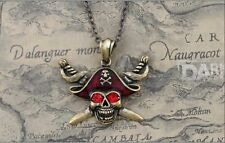 Retro Red Hat Eyes Pirates of the Caribbean Alloy Necklaces & Pendants