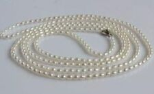 3-4mm natural south seas white  pearl necklace 22inch