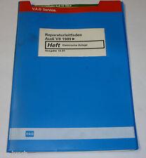 Werkstatthandbuch Audi V8 / V 8 D11 Elektrik / Elektrische Anlage ab 1989
