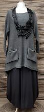 LAGENLOOK OVERSIZE WOOL MIX BEAUTIFUL 2 POCKETS JUMPER/TUNIC*GREY* L-XL-XXL