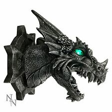 Nemesis Now Ferox Dragon Head Wall Plaque 20.5 cm  LED Colour Changing Eyes