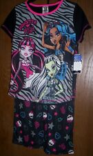 MONSTER High Pajamas 10/12 NeW Pjs Shirt Pants Frankie Draculaura & Lagoona Blue