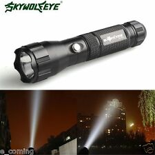 4000 Lumens Wolf Flashlight Lamp Torch 3 Modes CREE XML T6 LED 18650 Battery BK