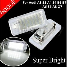 18 LED 6000K License Number Plate Light For Audi A3 S3 A4 S4 B6 B7 A6 S6 A8 Q7