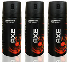 3 x Axe Musk Deodorant Body Spray NEW DESIGIN 150ml 5.07oz / Each (Pack of 3)