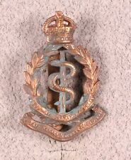 Army Badge:  South African Medical Corps, double motto - brass w/service number