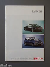 R&L Sales Brochure: Toyota Range UK 1996 Landcruiser/Previa/Rav4/MR2