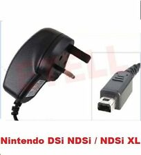 3 PIN UK MAINS CE RHOS AC WALL CHARGER FOR NINTENDO DSi DSiXL NDSi 3DS XL 'NDSi