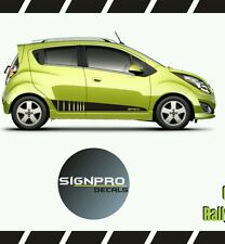 Chevy Spark Chevrolet Rally Racing Side Stripes Personality 2013-15 Customize