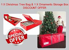 CHRISTMAS Tree Storage Bag & Ornaments Storage Box *** SPECIAL COMBO OFFER ***