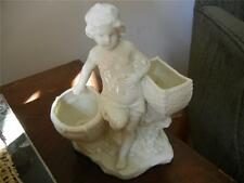 VINTAGE ANTIQUE GERMAN PORCELAIN CHILD FIGURINE SPILL VASE, MATCH CIGAR HOLDER