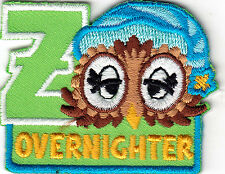 """"""" ZOO OVERNIGHTER"""" - Iron On Embroidered Patch - Animals, Zoo, Jungle, Forest"""