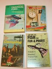 (4) Vintage Paperbacks: Tropical Fish, Camping, Weather: Golden Books, etc.