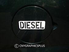 White DIESEL Army Style Decal Sticker for Fuel Gas Cap Tank Power Stroke Cummins